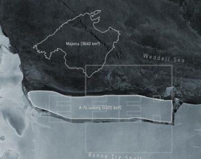 El iceberg más grande del mundo con una masa de hielo de 4 mil 320 kilómetros cuadrados se desprende de la Antártida