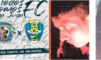 Publicación del juego entre San Juan FC y Chiquimulilla y la foto que el central incluyó en el reporte. Foto Prensa Libre: Redes sociales