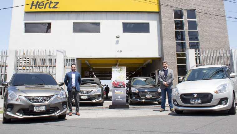 La alianza entre Autos Suzuki y Hertz proporcionará vehículos cómodos y seguros para sus clientes. Foto Prensa Libre: Cortesía Gaby Santisteban.