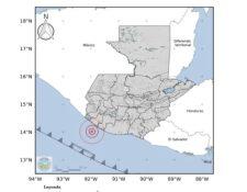 El temblor de este 10 de mayo de 2021 tuvo como epicentro el Pacífico, frente a Retalhuleu. (Foto Prensa Libre: Insivumeh)