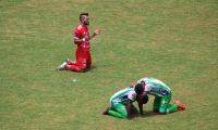 Sacachispas descendió, luego del empate contra Antigua GFC. (Foto cortesía).