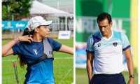 Camila es una deportista que escribe su historia en Guatemala. (Foto Prensa Libre: World Archery y Andrés N.)