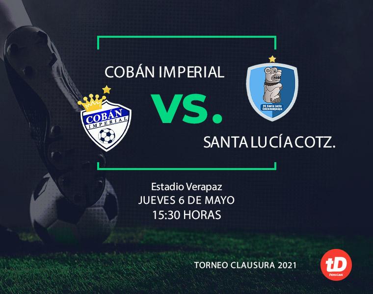 Santa Lucía Cotz. saca un importante empate 1-1 en su visita a Cobán