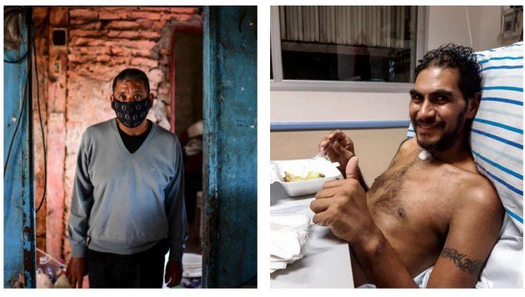 Raul Almirón y Raúl Gutiérrez son sobrevivientes de covid-19. (Foto Prensa Libre: AFP)