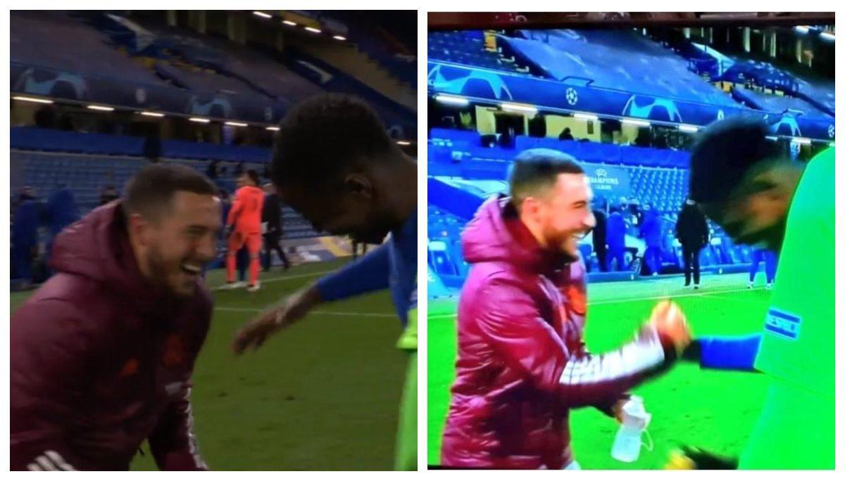 ¿Hazard arrepentido? La imagen viral que refleja la alegría del futbolista belga tras la victoria del Chelsea sobre el Real Madrid