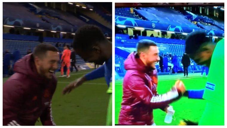 Las imágenes de Hazard después de la eliminación del Real Madrid le han dado la vuelta al mundo. (Foto Prensa Libre: Twitter)