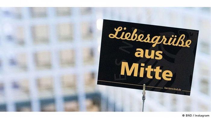 """""""Saludos cariños desde Mitte"""", dice esta imagen publicada en Instagram por el BND. """"Mitte"""" es el circuito del Gobierno en el centro de Berlín."""