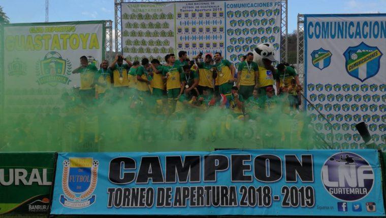 Guastatoya se coronó monarca del futbol nacional en el Apertura 2018. (Foto Prensa Libre: Hemeroteca PL)