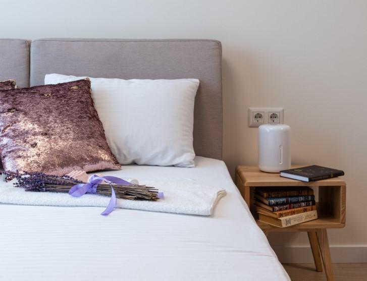 humidificador en la cama
