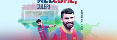 El Barcelona le dio la bienvenida al Kun Agüero. (Foto Prensa Libre: FC Barcelona)