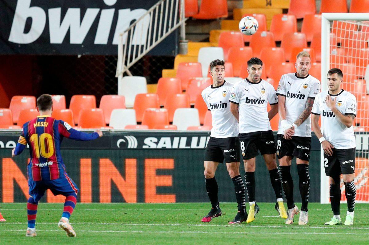 Así fue el golazo de Lionel Messi en la remontada del Barcelona contra el Valencia