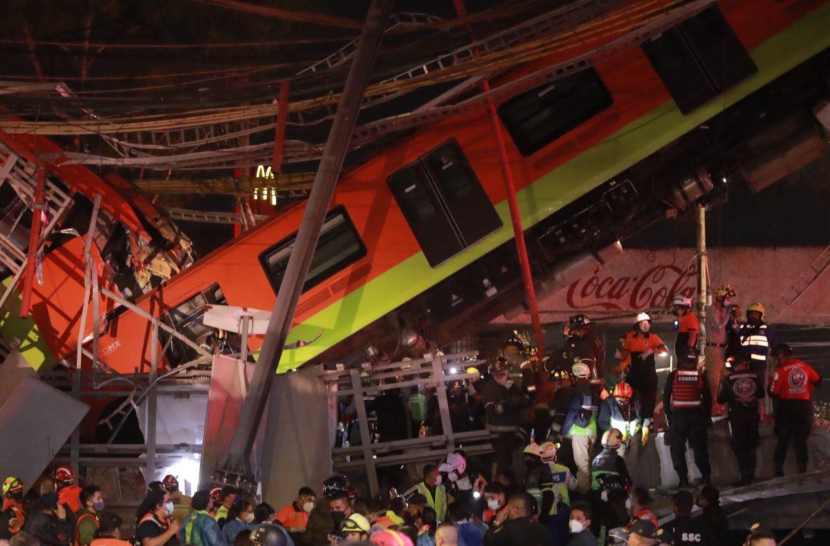 Impactantes imágenes: Así fueron las tareas de rescate en la Línea 12 del Metro de México que dejó más de 20 muertos