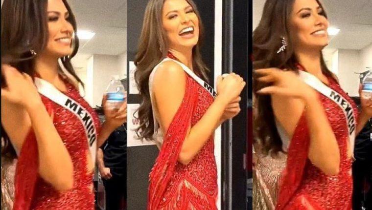 """Acusan a Andrea Meza por """"copiar"""" diseños de vestidos usados en Miss Universo. (Foto Prensa Libre: Instagram)"""