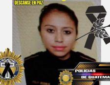 Lesly Esteffany Osorio Quiroa, de 28 años, agente de la PNC que murió atropellada en un operativo de control en Moyuta, Jutiapa. (Foto Prensa Libre: Facebook Soy Policía de Guatemala)