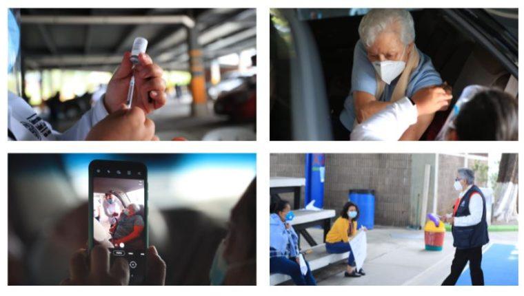 Lala fase 2 de vacunación en Guatemala comenzó el 4 de mayo. (Fotos Prensa Libre: Carlos Hernández Ovalle / Juan Diego González / María José Bonilla / Érick Ávila)