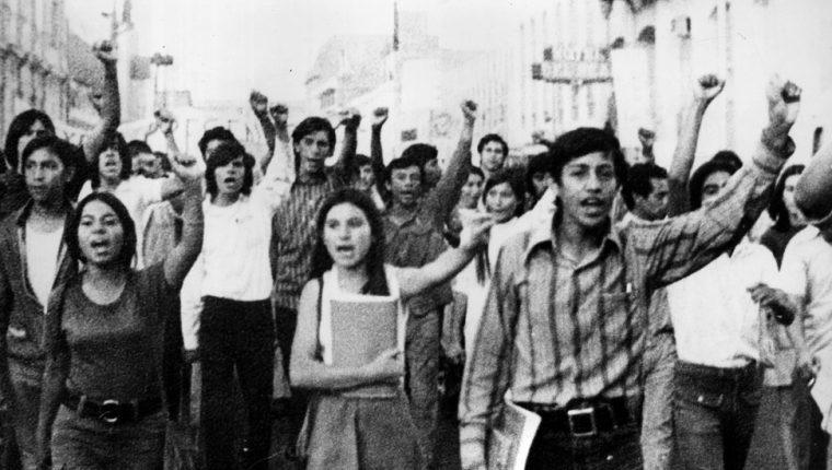 Los universitarios se reunieron en Ciudad de México el 10 de junio de 1971.