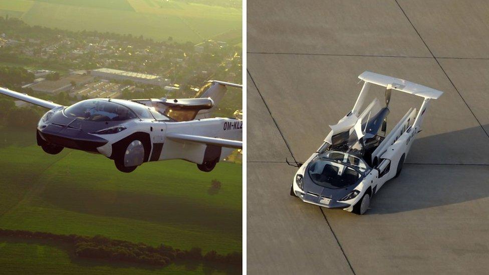 El auto volador que completó un vuelo de prueba entre dos aeropuertos