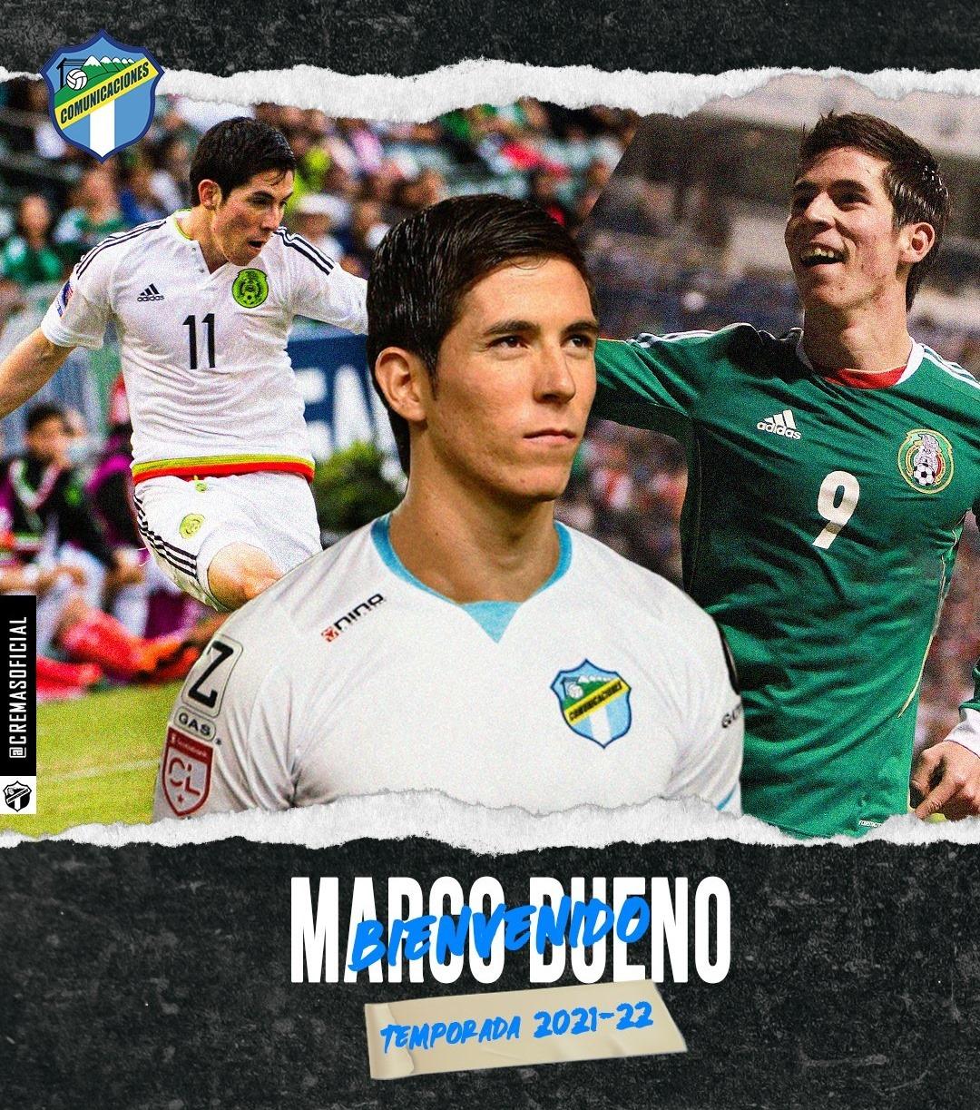 De Uzbekistán a Guatemala; Comunicaciones contrata al delantero mexicano Marco Bueno