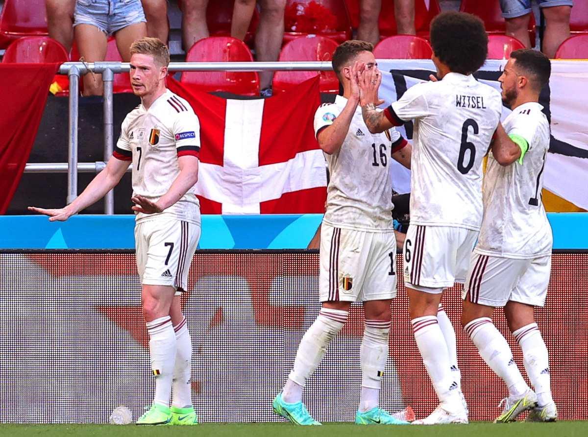 """Kevin De Bruyne de Bélgica: """"No quería celebrar mi gol por respeto a los aficionados de Dinamarca"""""""