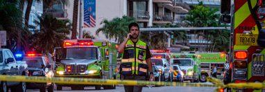 El derrumbe parcial de un edificio residencial en Florida ha dejado por lo menos a 99 desaparecidos. (Foto Prensa Libre: Hemeroteca PL)