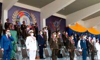 VEN01. CAMPO CARABOBO (VENEZUELA), 24/06/2021.- Fotografía cedida por prensa de Miraflores que muestra a los dirigentes de las Fuerzas Armadas durante el desfile militar conmemorativo del 200 aniversario de la Batalla de Carababo hoy, en el Campo Carabobo (Venezuela). El presidente de Venezuela, Nicolás Maduro, dirigió este jueves desde la cumbre de la Alianza Bolivariana para los Pueblos de América (ALBA) el desfile militar del bicentenario de la Batalla de Carabobo, clave en la independencia del país. EFE/ Prensa De Miraflores SOLO USO EDITORIAL SOLO DISPONIBLE PARA ILUSTRAR LA NOTICIA QUE ACOMPAÑA (CRÉDITO OBLIGATORIO)
