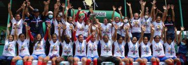 El Deportivo Xela consiguió este sábado 19 de junio su primer bicampeonato en la Liga Nacional Femenina del Futbol de Guatemala. Foto Prensa Libre: Cortesía Tercer Tiempo .