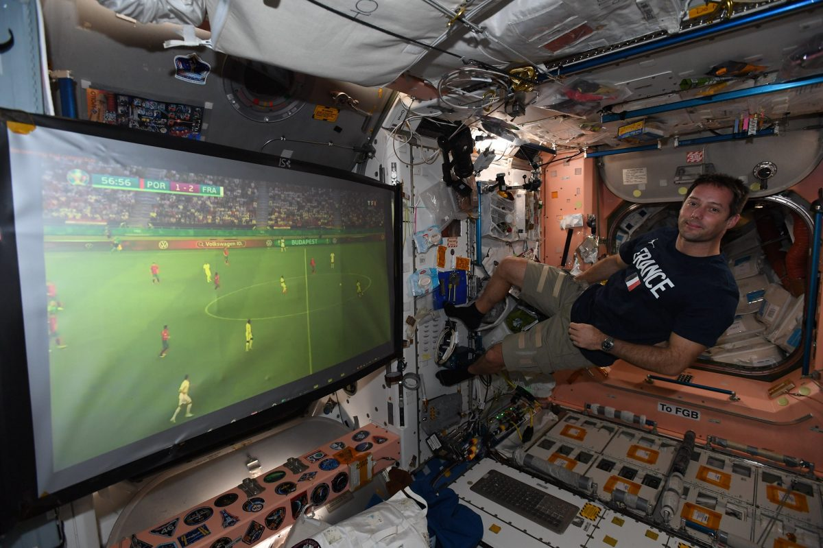 Thomas Pesquet, el astronauta francés que vio a su selección ante Portugal desde la Estación Espacial Internacional