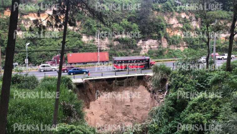 La ruta CA-9 Sur es una de las más importantes en Villa Nueva. (Foto Prensa Libre: Élmer Vargas)
