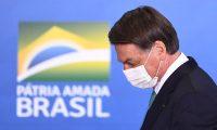 El presidente de Brasil, Jair Bolsonaro, apoya que la Copa America 2021 se lleve a cabo en su país. Foto Prensa Libre: AFP.