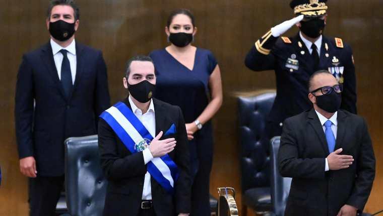 Allegados a Nayib Bukele, presidente de El Salvador, son señalados en esta lista por el Departamento de Estado de EE. UU. (Foto Prensa Libre: AFP)