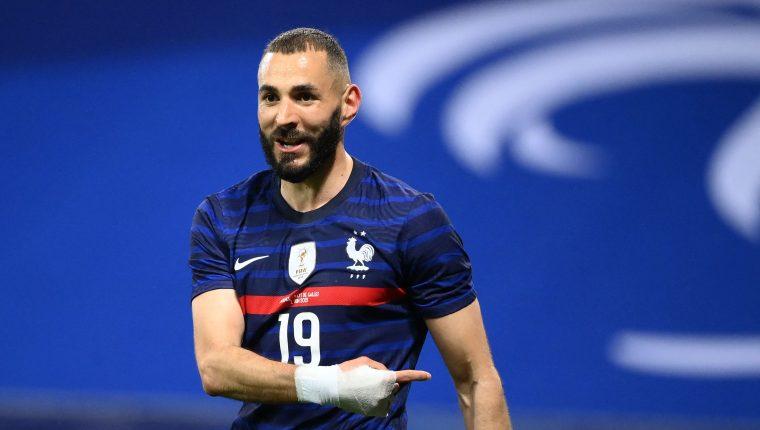 Karim Benzema, delantero de la selección francesa. (Foto Prensa Libre: AFP)