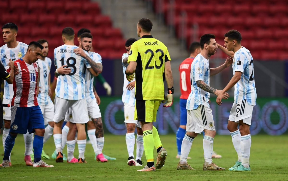 Argentina vence a Paraguay 1-0 y se clasifica a cuartos de final de la Copa América