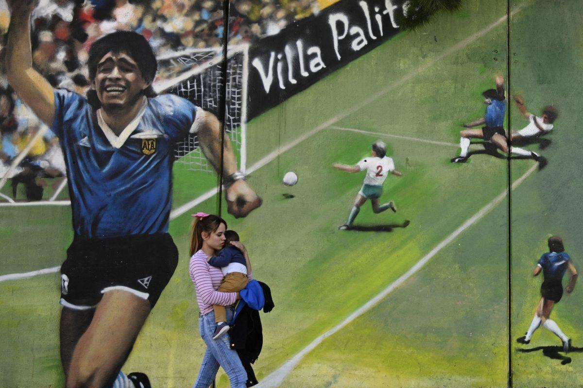 Este es el homenaje que han preparado para Diego Maradona al cumplirse 35 años del Gol del Siglo