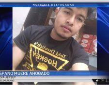 El guatemalteco Mario Morales murió ahogado en un lago de Nueva Jersey. (Foto Prensa Libre: Captura de pantalla de video de Telemundo 62)