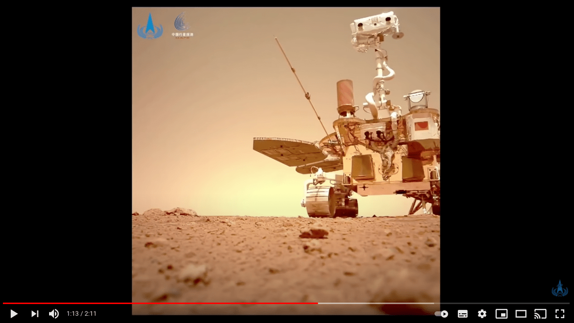 Video: ¿cómo suena el viento en Marte? China publica hallazgos de su robot Zhurong