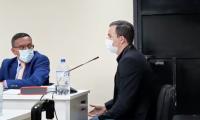 Marco Pappa, futbolista guatemalteco, da a conocer su versión de los hechos en su audiencia de primera declaración. (Foto Prensa Libre: Edwin Pitán)