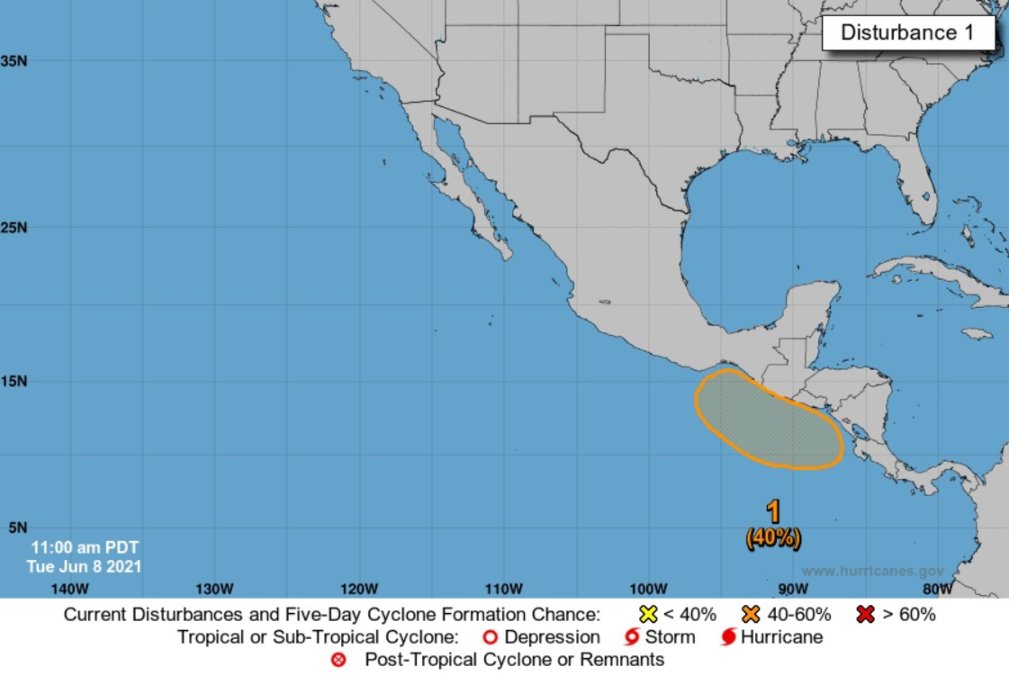 Conred reporta sobre posible formación de ciclón en el Pacífico de Guatemala