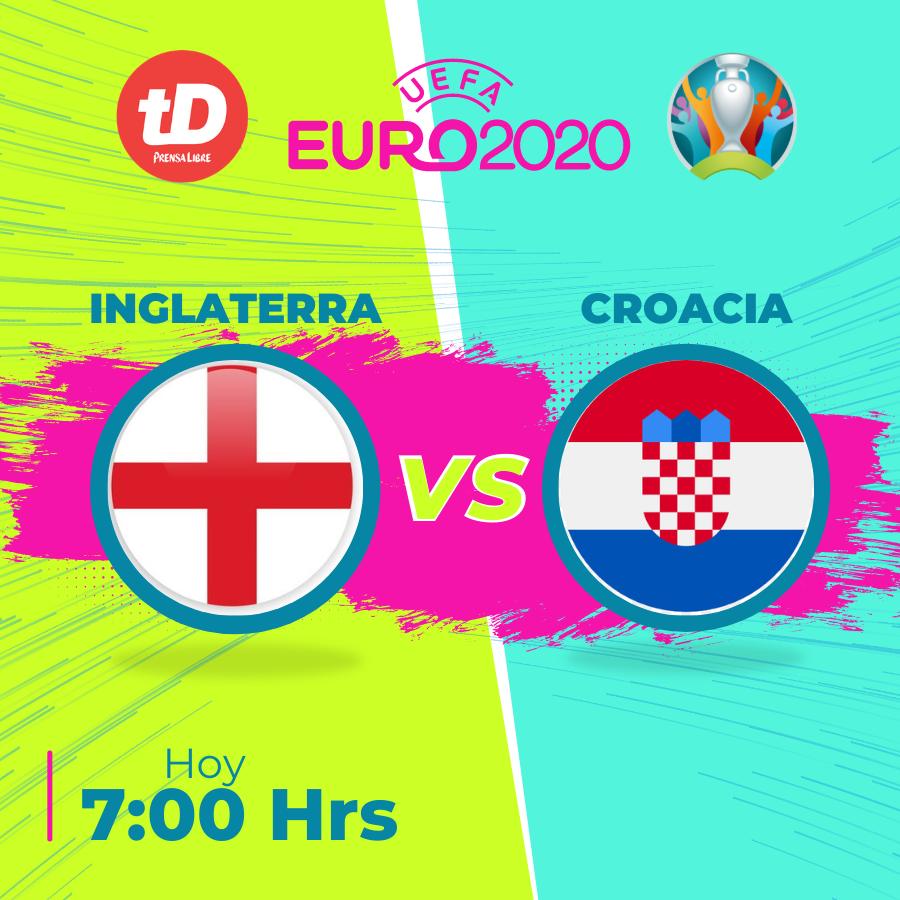 Estadísticas de partido entre Inglaterra y Croacia