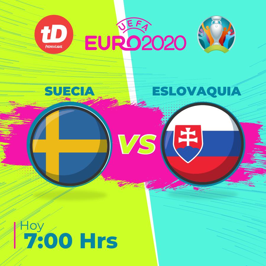 Consulta las estadísticas del juego Suecia vs. Eslovaquia
