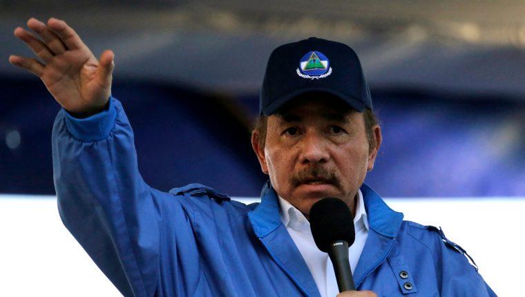 Daniel Ortega, presidente de Nicaragua. (Foto Prensa Libre: AFP)