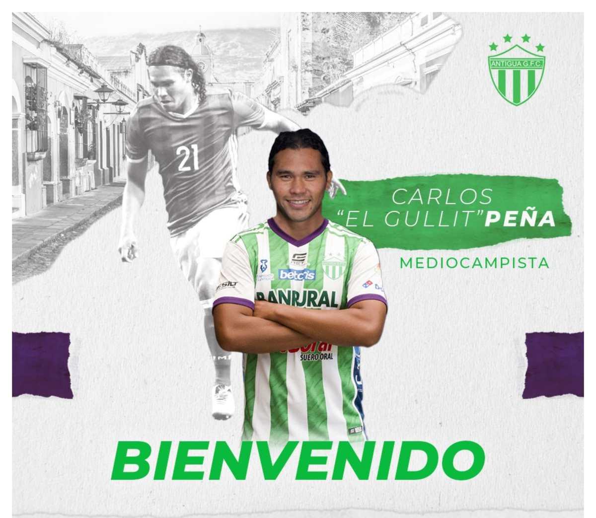 Carlos 'el Gullit' Peña, exfigura de Pachuca y Cruz Azul, es confirmado por Antigua GFC