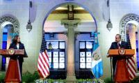 La vicepresidenta de los Estados Unidos durante su visita a Guatemala anunció la creación de un órgano para combatir la corrupción en la región. Fotografía: Presidencia.