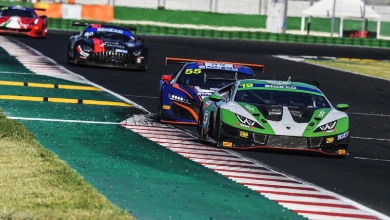 Mateo Llarena terminó quinto puesto de la división Pro-Am, en la primera carrera de la 2da. fecha del Campeonato Italiano GT Sprint 2021. (Foto Cortesía).