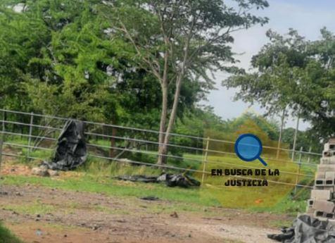 Lugar donde fueron ultimadas seis personas en Ipala, Chiquimula. (Foto Prensa Libre: Tomada de En Busca de la Justicia)