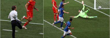 La genialidad y talento de Roberto Mancini sigue intacta, tal como lo demostró en un balón que recibió en la banca. Y luego, su equipo, demuestra cómo ha entendido la idea práctica de juego. Foto Prensa Libre: EFE y AFP