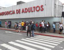 Las morbilidades aparte del covid-19 continúan dándose en el país. Emergencia del Hospital General San Juan de Dios. (Foto Prensa Libre: Hemeroteca PL)