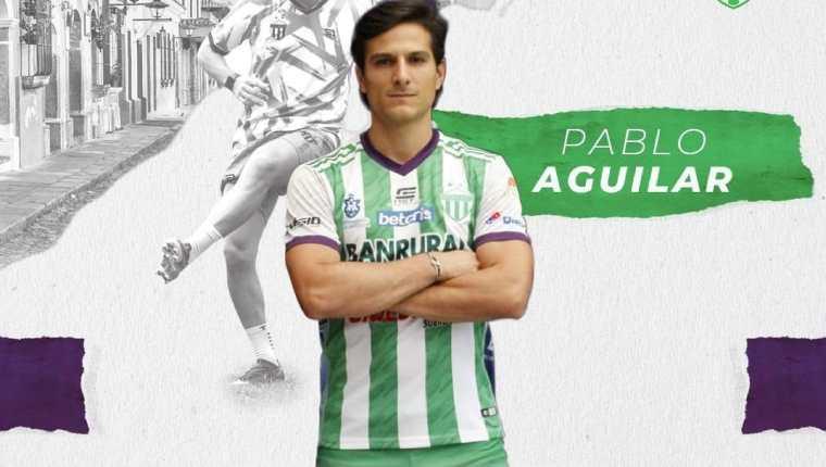 Pablo Aguilar regresó de nuevo a Antigua GFC tras su paso por Comunicaciones. (Foto Antigua GFC).