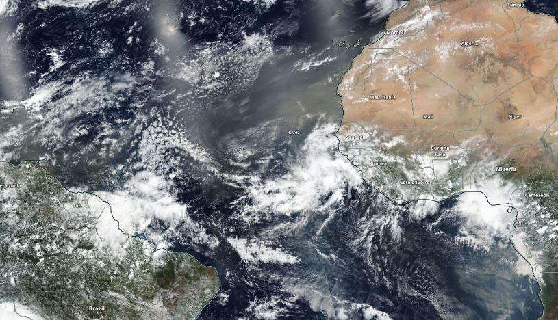 Polvo del Sahara se dirige a América y la NASA muestra el recorrido en impresionante imagen