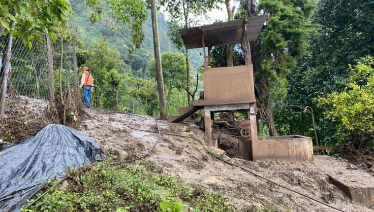 Huehuetenango ha sido uno de los departamentos más afectados por la temporada de lluvia. (Foto Prensa Libre: Conred)