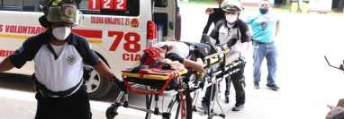 Las cuatro personas heridas fueron identificadas a su ingreso al hospital. Fotografía: Cuerpo de Bomberos Voluntarios,